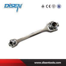 12-19mm Chrome Plated 8 in 1 Dog Bone Socket Wrench