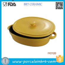 Горячая Распродажа Кухонные принадлежности керамические формы для запекания с крышкой посуда