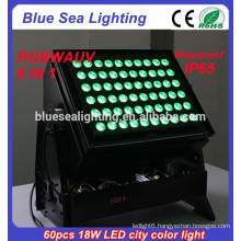 New products on china market 6 in 1 rgbwauv led outdoor lighting