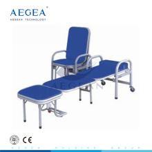 Asiento de material de acero AG-AC002 con silla plegable sillas de hospital reclinables