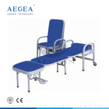 AG-AC002 accompany equipment stainless steel folding hospital bed chair