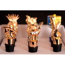 Bouchon de bouteille de vin en métal avec des formes d'animaux (GZHY-BS-003)