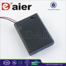 Daier 4 aaa soporte de batería con cubierta 6v aaa soporte de batería
