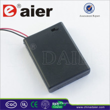 Daier 4 aaa battery holder with cover 6v aaa battery holder