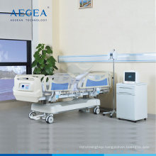 AG-BY009 more advanced hospital adjustable single ICU care bedroom ABS electric medical bed supplier