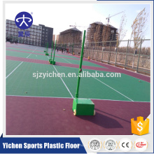 Tuiles de plancher de cour de volley-ball de sport d'imbrication extérieure en plastique