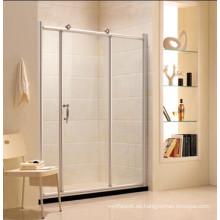Puerta de ducha de baño de vidrio templado simple con marco (R11)