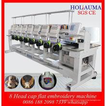 Mejor China fábrica precio Daohao sistema bordado máquina / nuevo cabezal de 8 Tubular casquillo máquina del bordado
