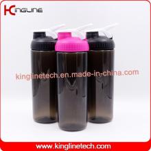 750ml novo design Garrafa de agitação de liquidificador de plástico com bola de misturador de liquidificador inoxidável (KL-7066)