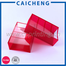 Collapsible corrugated clear plastic box