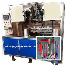 5 ejes CNC 2 cabezas de perforación y 1 cabeza penachos máquina