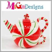Weihnachtskeramik-Dekoration-Teekannen-Form-Becher