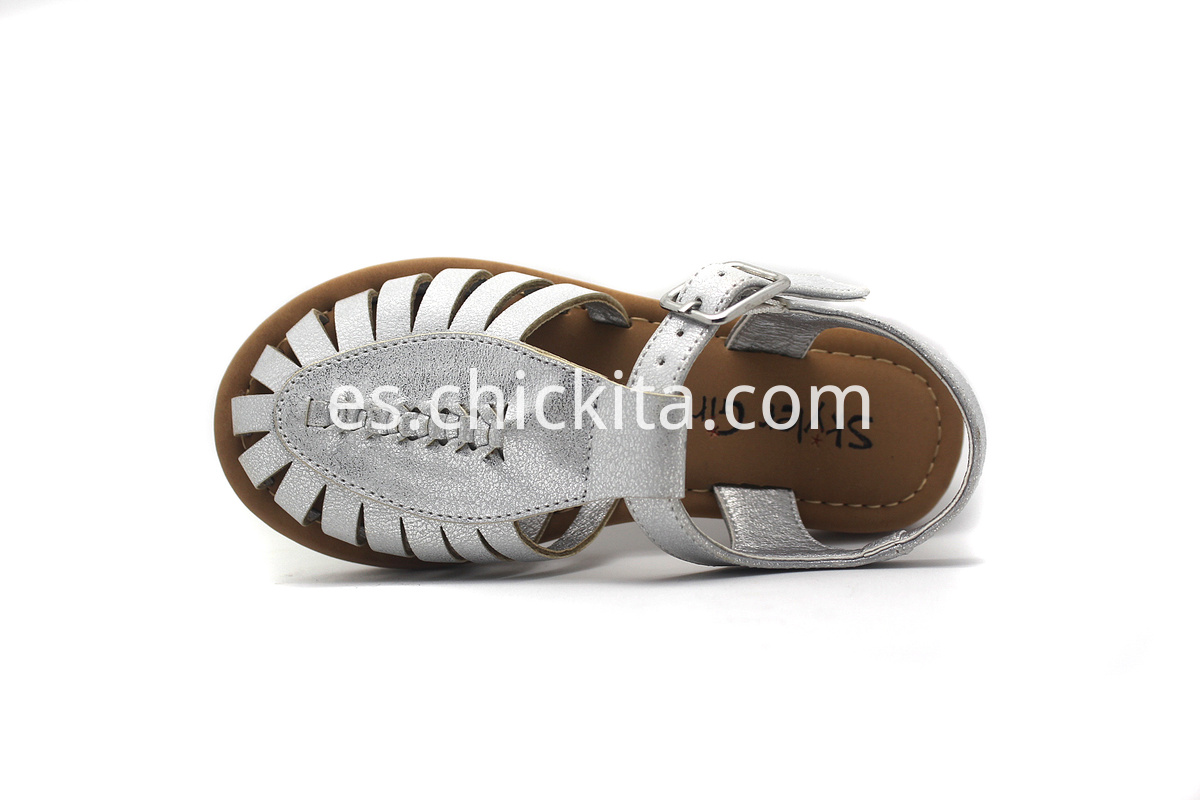 Flat Fashion Sandals With PU strips and PU weaving
