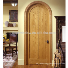 Canadian Red Oak knotty alder pine Solid Wood Interior Arched Top Entry Door