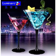 Luminarc 170ml Champagne Drinking Glass avec tige noire (C8716)