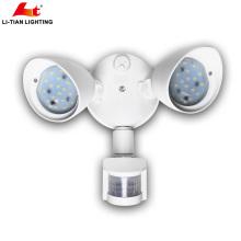 20 Вт двойной головкой движения-активированный светодиодные Открытый свет безопасности с настенным креплением