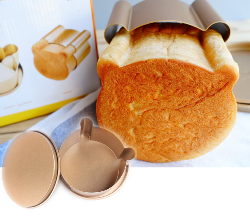 Golden non-stick bear head bread mold1
