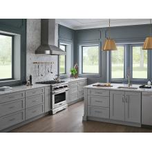 Armário de cozinha de luxo, móveis de madeira sólida