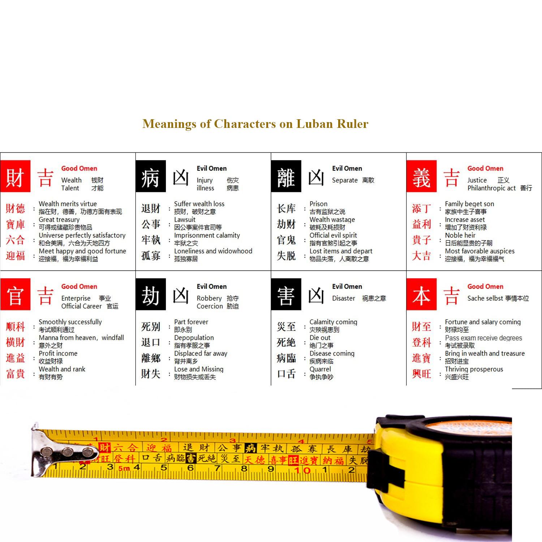 fengshui metric tape measure