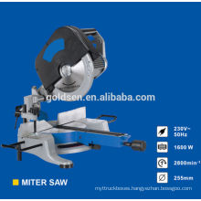 255mm 1600w Head Detachable Induction Motor Electric Power Wood Cutting Saws Aluminum Industrial Cut Off Saw Machine