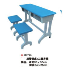 2014 Cheap modern double seat home study table and chair