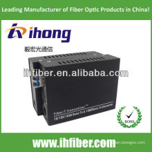 10/100 / 1000M Fibra Óptica Media Converter Singlemode fibra dual LC porta 20 km