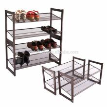 Range-chaussures empilable en métal à 2 niveaux, réglable et inclinable