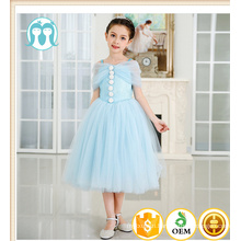 New arrival Children's boutique clothing Blue Harness girl Cotton party dresses Italian baby clothes fluffy wedding dress 2017 New arrival Children's boutique clothing Blue Harness girl Cotton party dresses Italian baby clothes fluffy wedding dress 2017