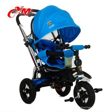 El nuevo triciclo del pedal de los niños del triciclo del bebé de China puede mentir / las ruedas de aire del triciclo del metal de los niños de la marca de Bicystar