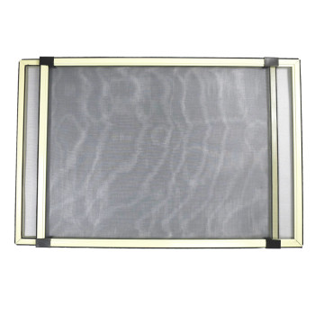 Aluminum sliding and adjustable window with fly screen