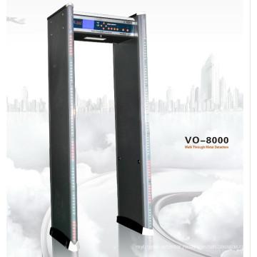 Многозонная прогулка через металлоискатель Vo-8000