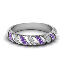 Vollstein Silber Band Hochzeit Schmuck Ring