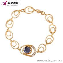 Elegante 18k banhado a ouro cz diamante moda imitação jóias pulseira (74182)