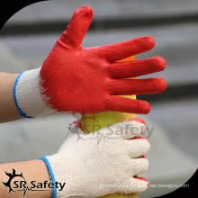 10G Перчатки с латексным покрытием / Защитные перчатки / рабочие перчатки, экономичная гладкая латексная перчатка