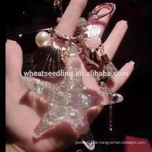 Trendy design starfish alibaba Großhandel keychain Kristall Schlüsselanhänger