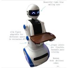 Intelligenter Kellner Roboter im Supermarkt