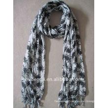 Fashion 100% viscose animal print scarf