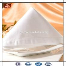 Atacado de alta qualidade de algodão branco higiênico casamento guardanapo pano