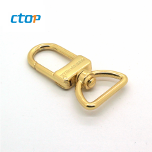 china new design high quality light gold zinc alloy metal nickel free swivel hook bag snap hook gold heavy duty swivel snap hook