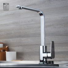 HIDEEP Full Brass Chrome Kitchen Sink Faucet