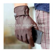 Nuevos hombres de estilos guantes de cuero