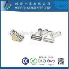 Taiwan Brass Metal Copper Boucles d'oreilles plaqué or en acier plaqué boucle