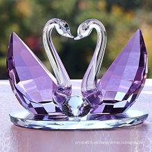 Decoraciones de boda cristalinas del regalo del cisne cristalino del alto grado