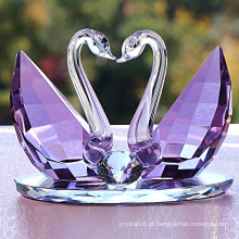 Decorações de cristal de cristal de presente de cisne de cristal de alto grau