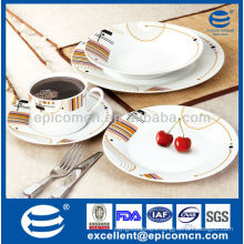 20 pcs round table utensils ceramic kitchen and dining ware                                                                         Quality Choice