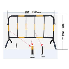 Temporary Fence Galvanized Temporary Foldable Picket Fence for crowd control