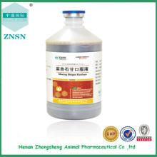 A medicina chinesa bv aprovou o líquido oral de Maxingshigan para aves de capoeira