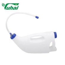 Frasco de remédio para beber via oral para bezerros em bolsa de plástico