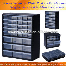 Caixas de ferramentas de armazenamento de gaveta de plástico para parafuso