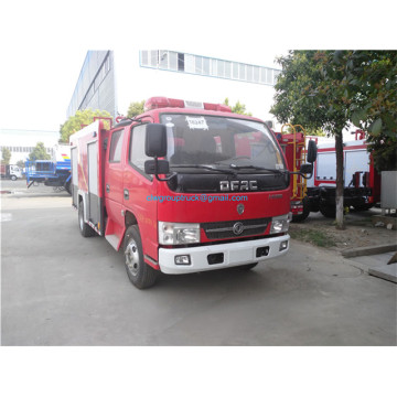 Dongfeng 4x2 RHD LHD crew cab 3 tons fire fighting truck